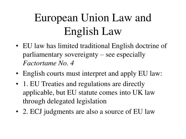 European Union Law and English Law