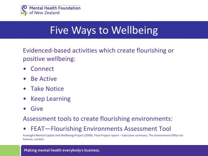 Five Ways to Wellbeing