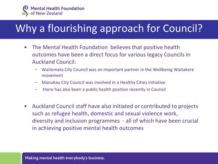 Why a flourishing approach for Council?