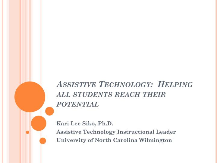 assistive technology helping all students reach their potential n.