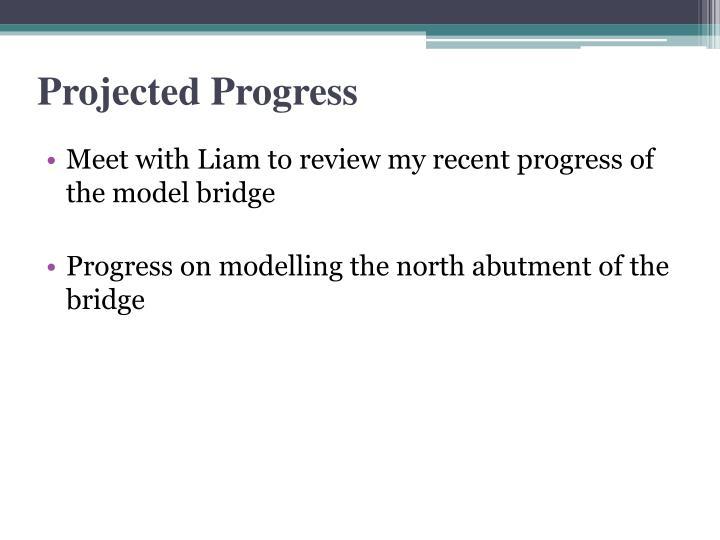 Projected Progress
