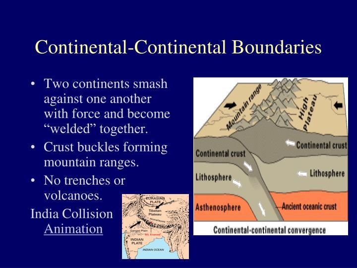 Continental-Continental Boundaries