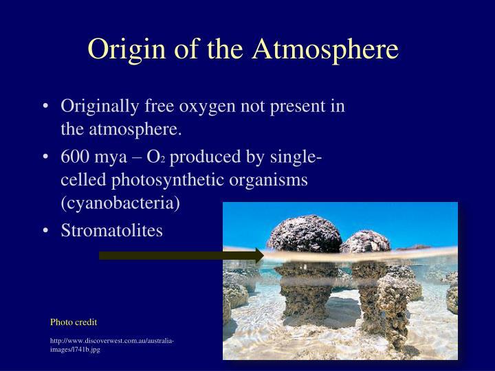 Origin of the Atmosphere