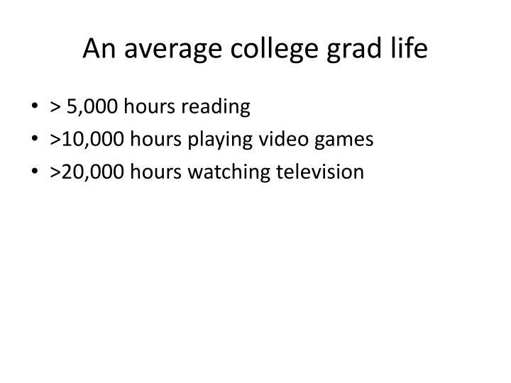An average college grad life