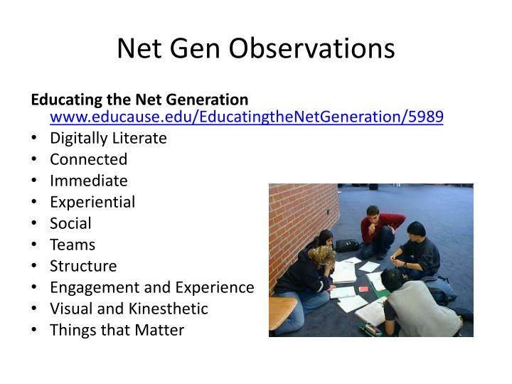 Net Gen Observations