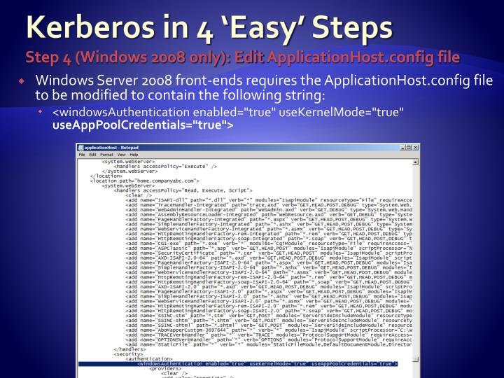 Kerberos in 4 'Easy' Steps