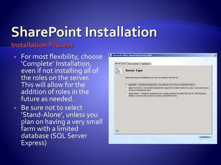 SharePoint Installation