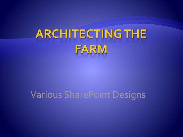 Various SharePoint Designs