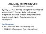 2012 2013 technology goal not a boe strategic committee