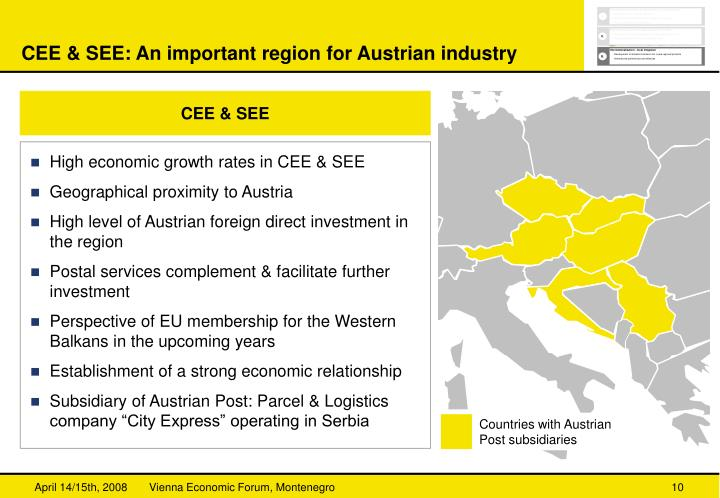 CEE & SEE: An important region for Austrian industry