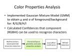 color properties analysis