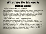 what we do makes a difference4