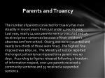 parents and truancy