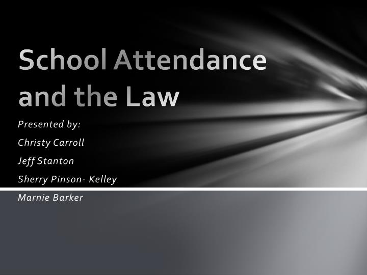 school attendance and the law n.