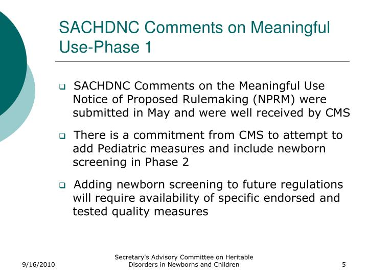 SACHDNC Comments on Meaningful Use-Phase 1