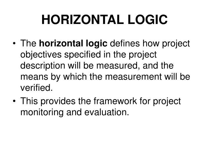 HORIZONTAL LOGIC