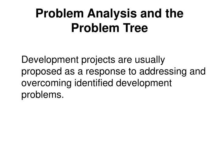 Problem Analysis and the Problem Tree