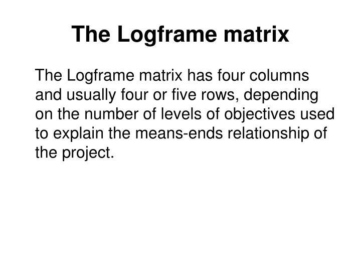 The Logframe matrix