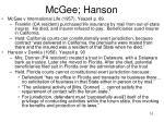 mcgee hanson
