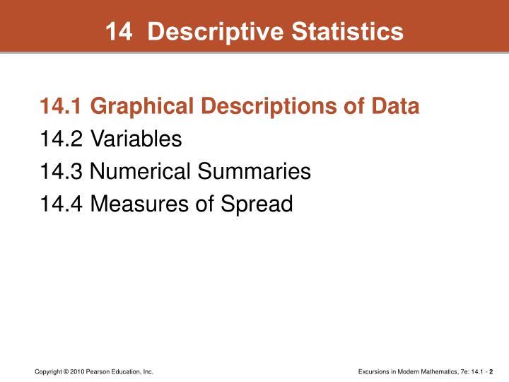 14  Descriptive Statistics