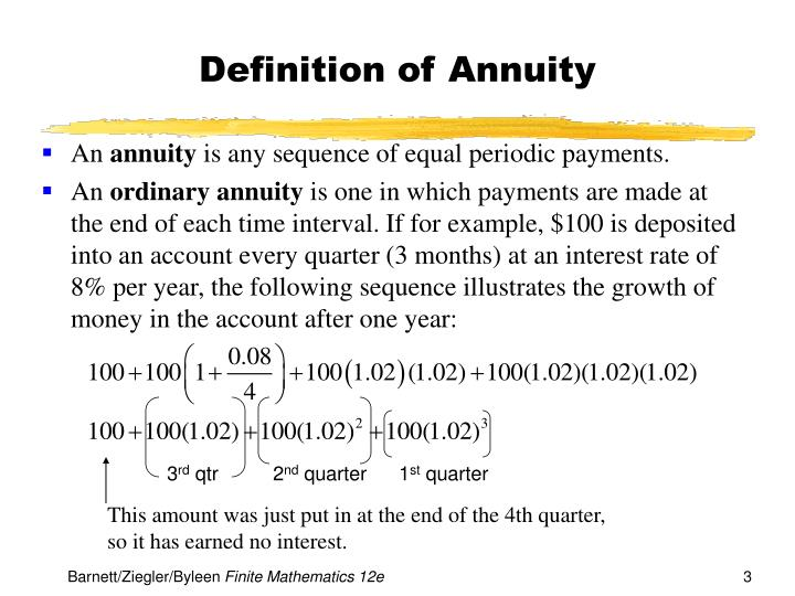Definition of annuity