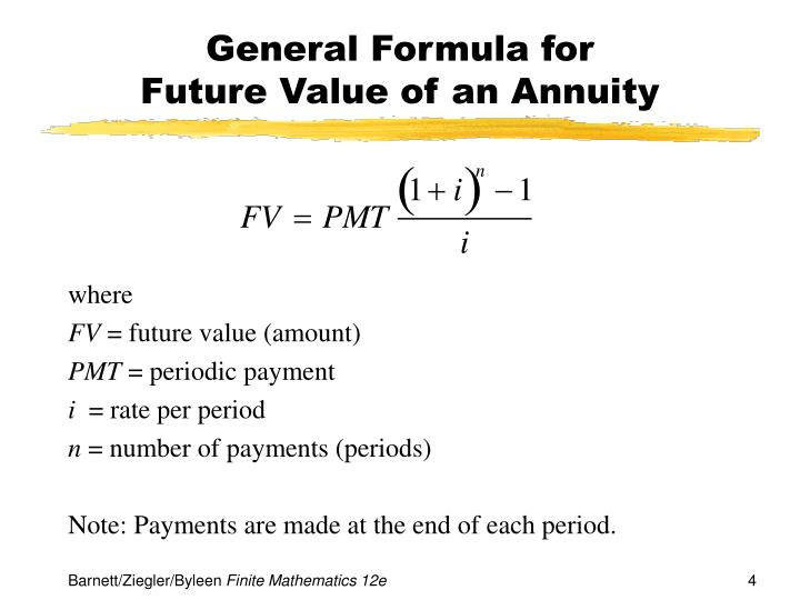 General Formula for