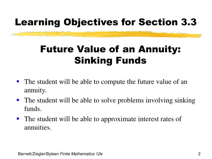 Learning objectives for section 3 3