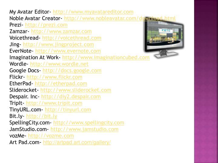 My Avatar Editor-