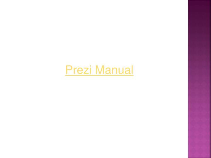 Prezi Manual