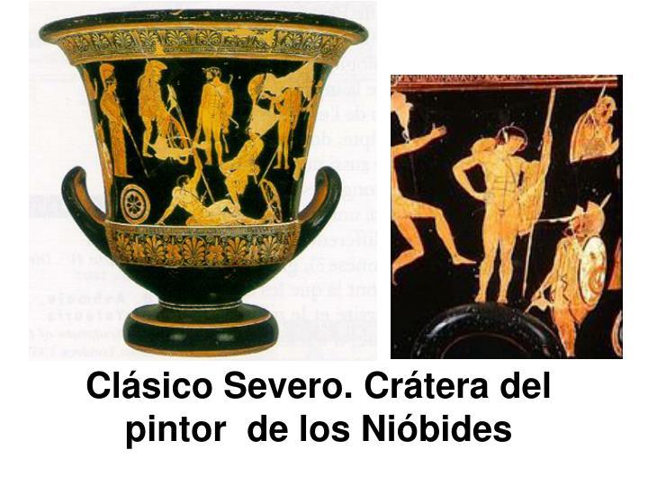 Clásico Severo. Crátera del pintor  de los Nióbides