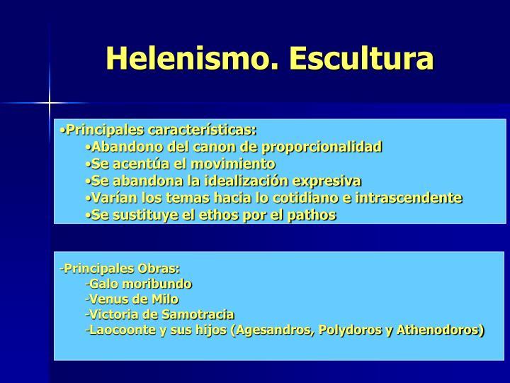 Helenismo. Escultura