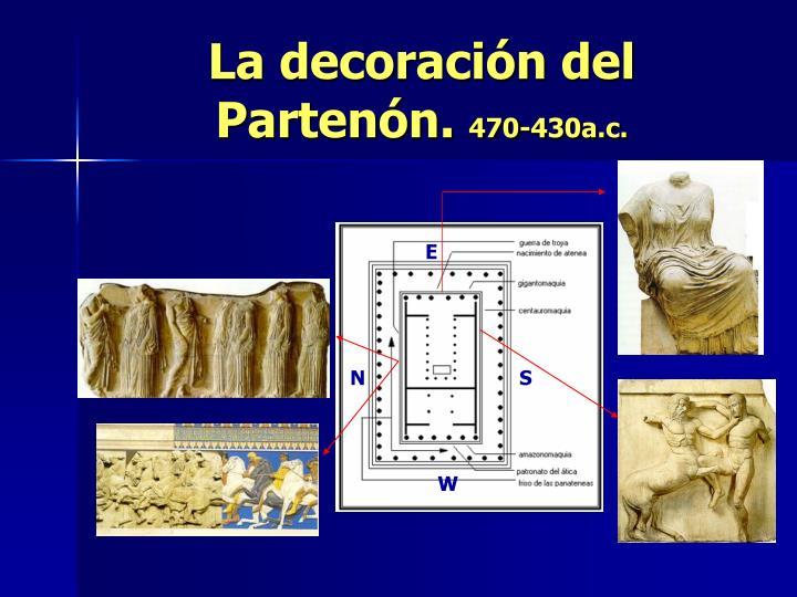La decoración del Partenón.