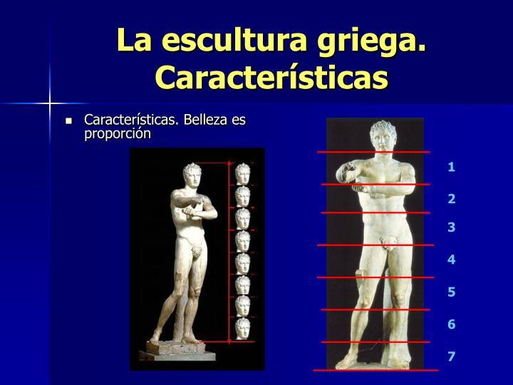 La escultura griega. Características