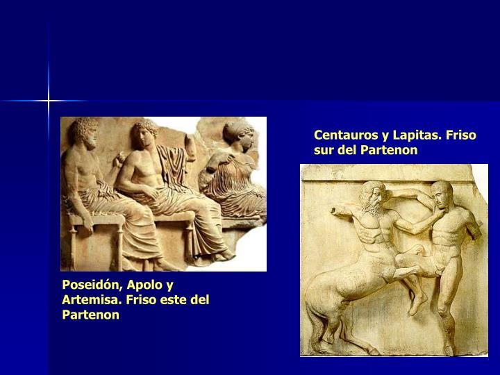 Centauros y Lapitas. Friso sur del Partenon