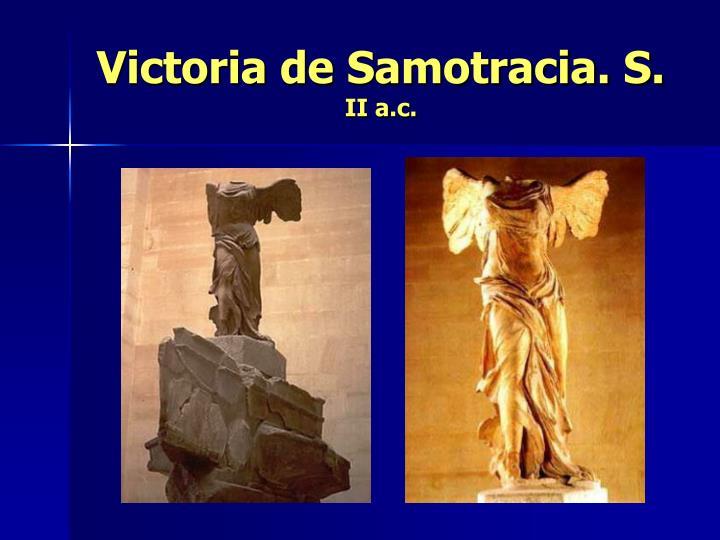 Victoria de Samotracia. S.