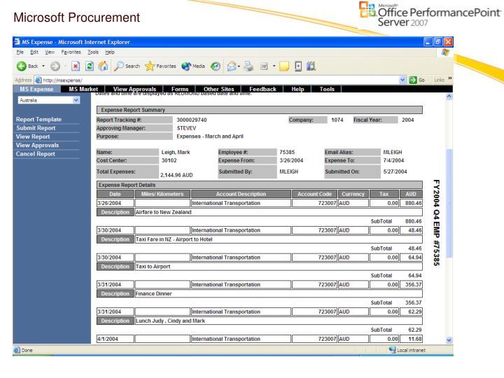 Microsoft Procurement