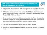 don berwick s national advisory group on the safety of patients in england