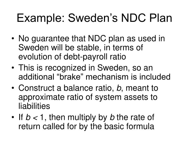 Example: Sweden's NDC Plan