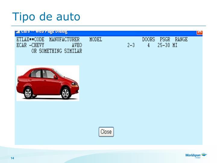 Tipo de auto