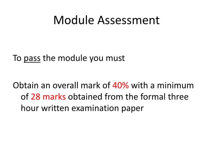 Module Assessment