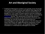 art and aboriginal society
