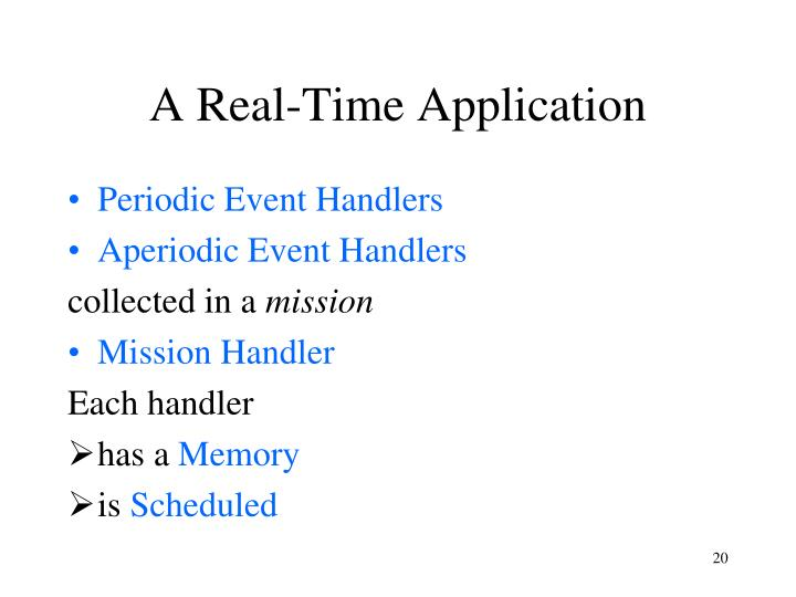A Real-Time Application