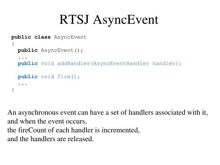 RTSJ AsyncEvent