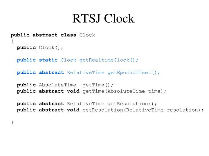 RTSJ Clock