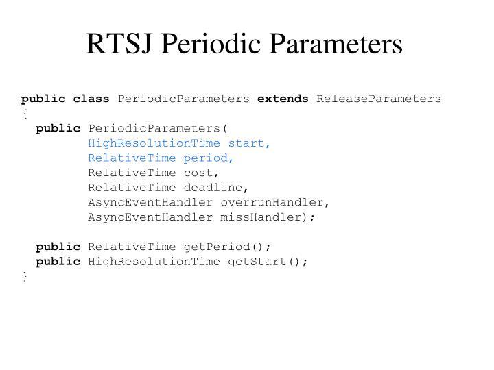 RTSJ Periodic Parameters