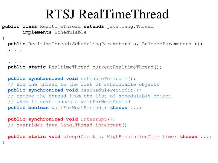 RTSJ RealTimeThread