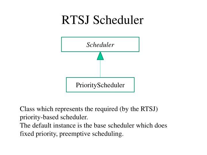 RTSJ Scheduler