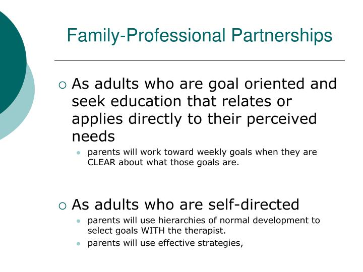 Family-Professional Partnerships