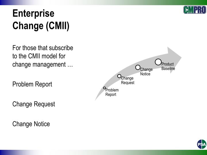 Enterprise Change (CMII)