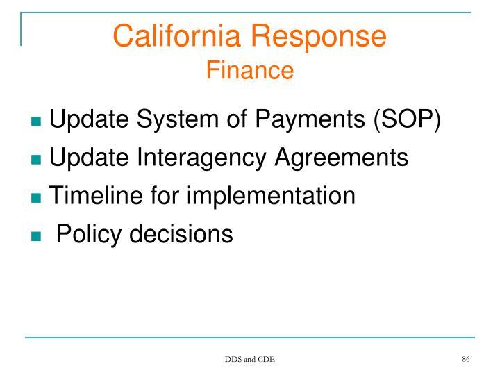 California Response